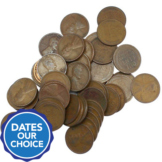 1920s Wheat Penny 50pc Grab Bag Dates Our Choice