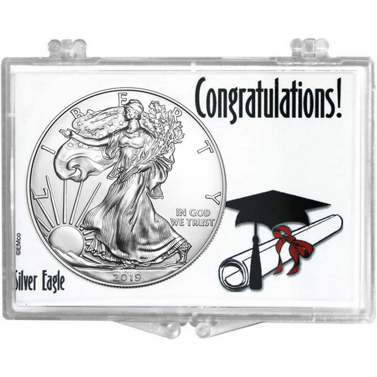 2017 Silver American Eagle Graduation Cap and Diploma Snaplock