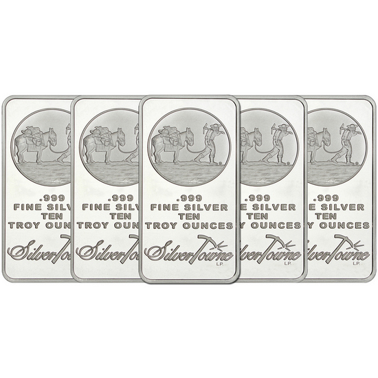 SilverTowne Trademark 10oz .999 Silver Bar 5pc