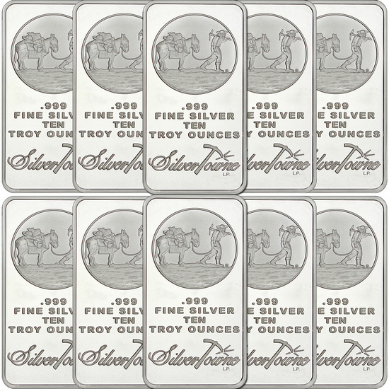 SilverTowne Trademark 10oz .999 Silver Bar 10pc