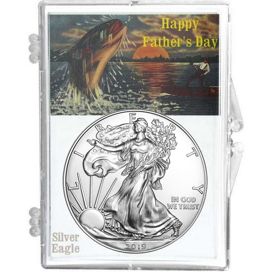 2017 Silver American Eagle Happy Father's Day Snaplock