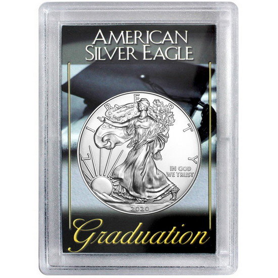 2017 Silver American Eagle H.E. Harris Graduation Case BU