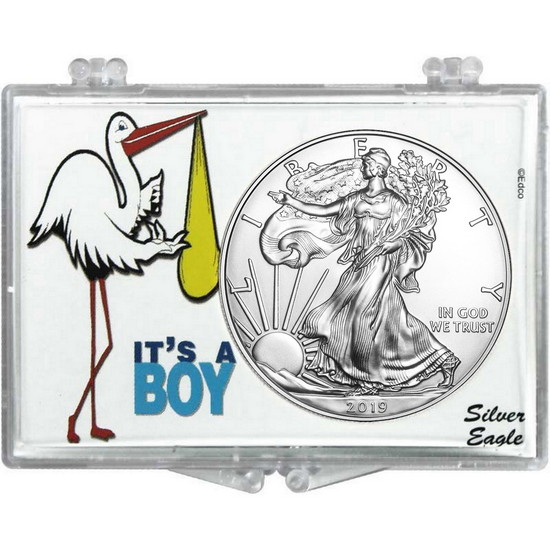 2018 Silver American Eagle It's a Boy Snaplock