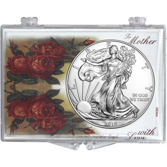 2017 Silver American Eagle Mother's Day Roses Snaplock