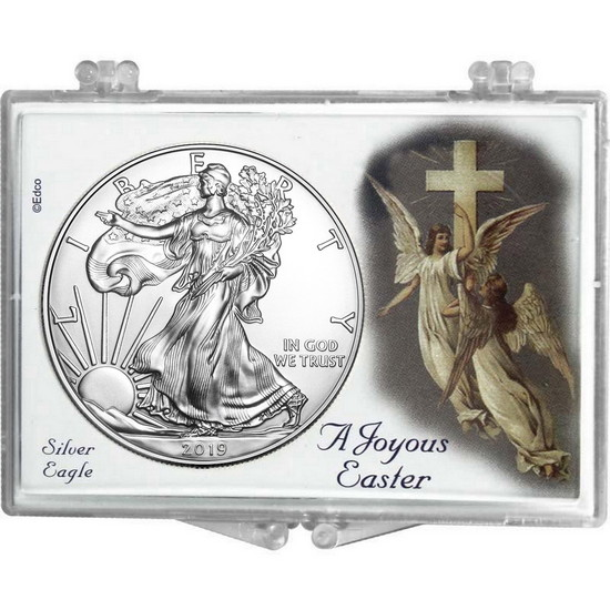 2017 Silver American Eagle Easter Angel Snaplock
