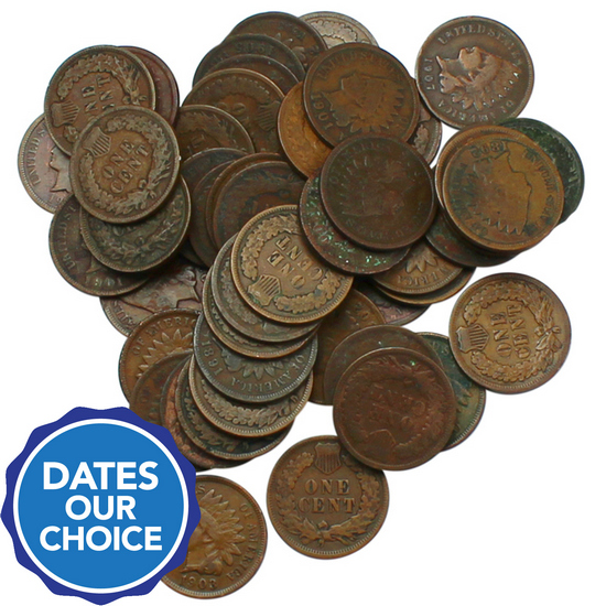 Indian Head Cents 50pc Grab Bag Dates Our Choice