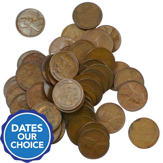 Wheat Penny S Mint 50pc Grab Bag Dates Our Choice