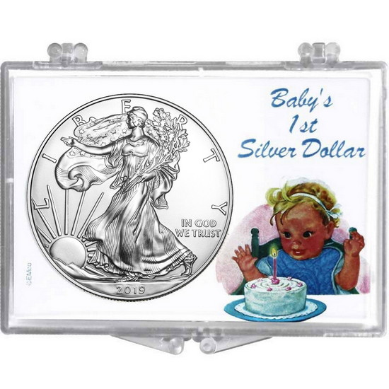 2017 Silver American Eagle Babys First Silver Dollar Snaplock