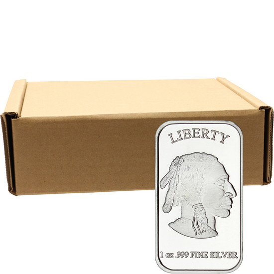 Buffalo Replica 1oz .999 Silver Bar 500pc