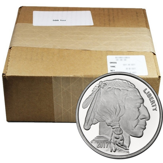 2017 Buffalo Replica 1oz .999 Silver Medallion 500pc