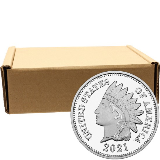 2018 Indian Head Cent Replica 1oz .999 Silver Medallion 500pc