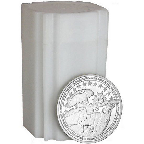 2nd Amendment 1oz .999 Fine Silver Medallion 20pc