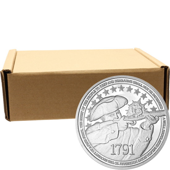 2nd Amendment 1oz .999 Fine Silver Medallion 500pc