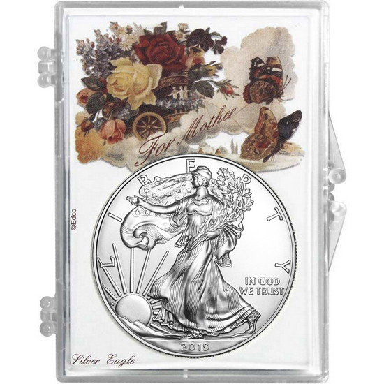 2017 Silver American Eagle Mother's Day Butterflies Snaplock