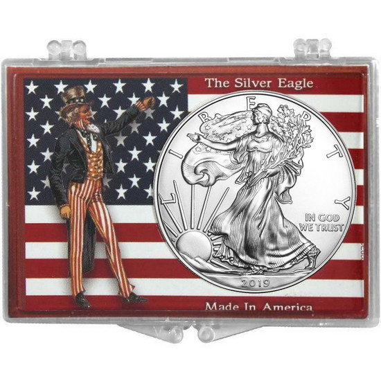 2017 Silver American Eagle American Flag and Uncle Sam Snaplock
