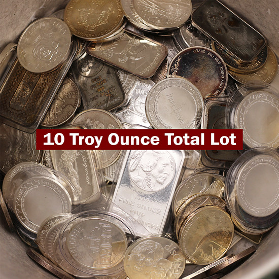 Melt Bucket .999 Silver 10 Troy Ounce Total Lot - Secondary Market