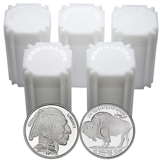 2017 Buffalo Replica 1oz .999 Silver Medallion 100pc