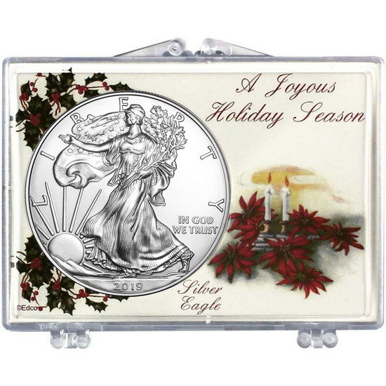 2017 Silver American Eagle A Joyous Holiday Season Holly Snaplock