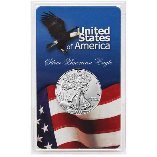 2017 Silver American Eagle BU Eagle/Flag Acrylic Holder