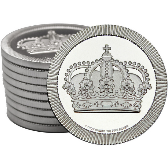 Crown Stackables 1oz .999 Silver Medallion 10pc