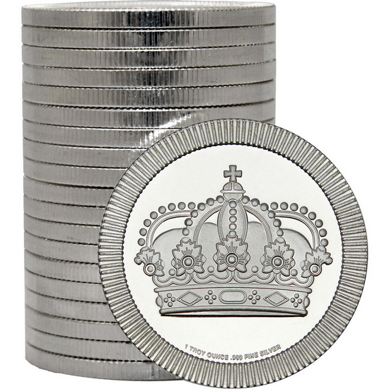 Crown Stackables 1oz .999 Silver Medallion in Tube 20pc