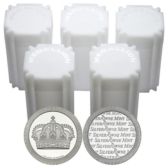 Crown Stackables 1oz .999 Silver Medallion in Tubes 100pc