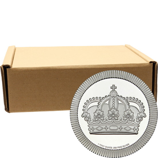 Crown Stackables 1oz .999 Silver Medallion in Tubes 500pc
