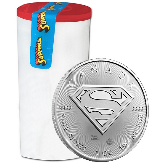 2016 Canada Silver Superman™: S-Shield 1oz BU 25pc Tube