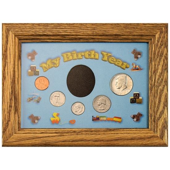 2016 Birth Year Frame Set - Blue with Toys Matting