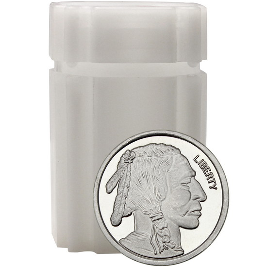 Buffalo Replica Half Ounce .999 Silver Medallion 20pc in Tube