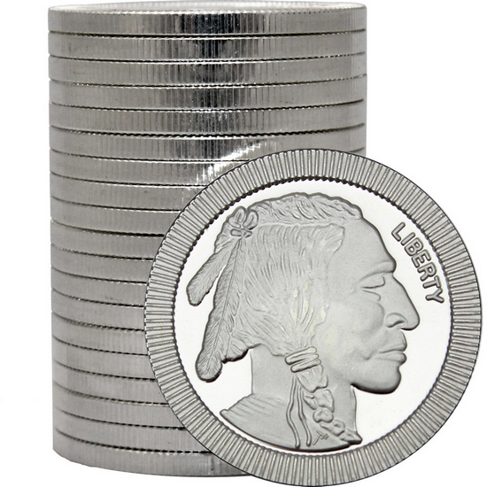 Buffalo Replica Stackables 1oz .999 Silver Medallion 20pc