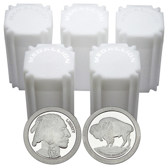 Buffalo Replica Stackables 1oz .999 Silver Medallion 100pc