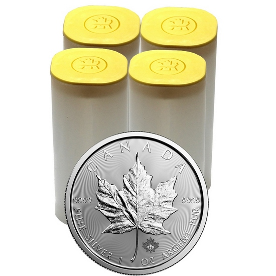 2017 Canada Silver Maple Leaf 1oz BU 100pc in Tubes