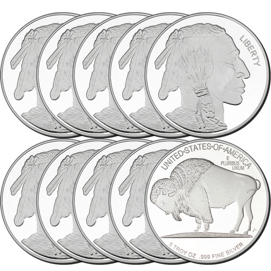 2017 Buffalo Replica 5oz .999 Silver Medallion 10pc