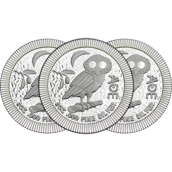 2017 Niue Silver Owl of Athena Stackables 1oz .999 Silver Coin 3pc