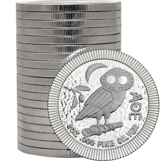 2017 Niue Silver Owl of Athena Stackables 1oz .999 Silver Coin 20pc