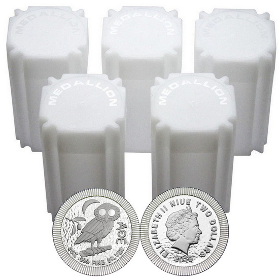 2017 Niue Silver Owl of Athena Stackables 1oz .999 Silver Coin 100pc