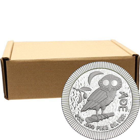2017 Niue Silver Owl of Athena Stackables 1oz .999 Silver Coin 500pc