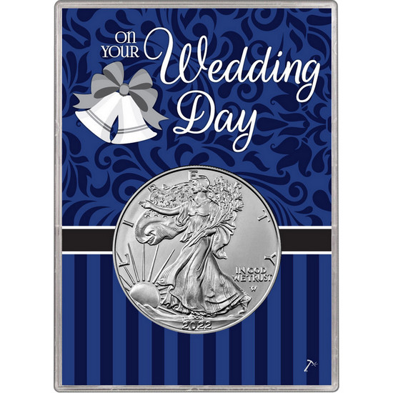 2018 Silver American Eagle BU in Wedding Gift Holder