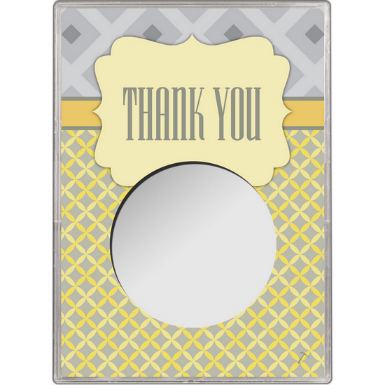 Thank You Gift Holder for Silver American Eagle - Empty