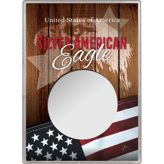 Patriotic Flag and Eagle Gift Holder for Silver American Eagle - Empty