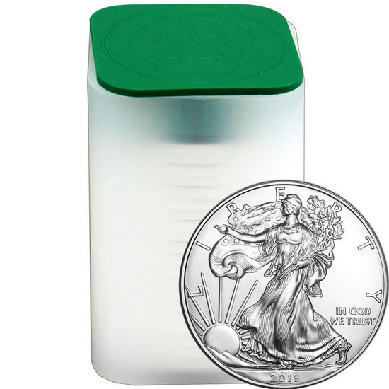 2018 Silver American Eagle BU 20pc Tube