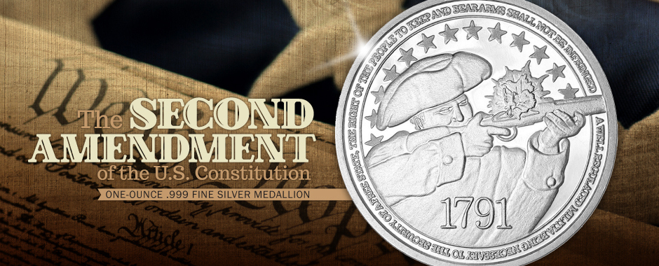 Second Amendment 1oz Silver Rounds