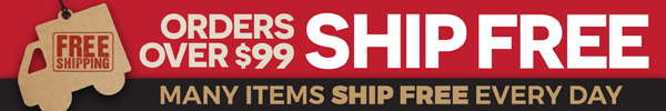Orders over $99 Ship FREE Inside the Domestic US